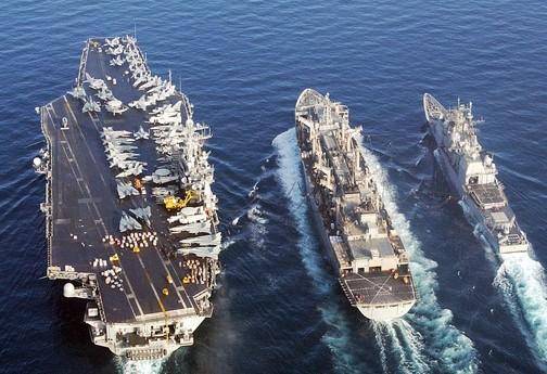 美军航母编队; 美军司令:不会直接入中日冲突