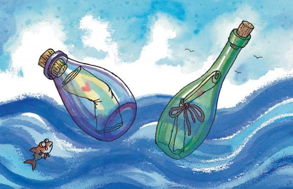漂流瓶简笔画