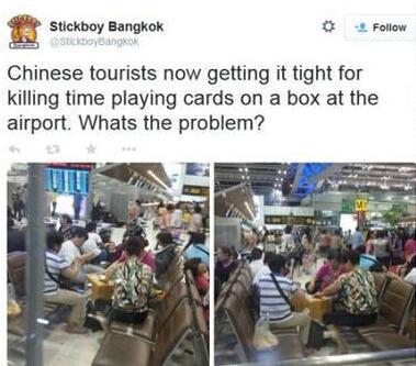 中国 曼谷/泰国网民的推特截图
