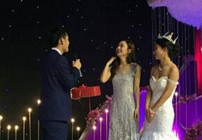 赵丽颖参加弟弟婚礼图片