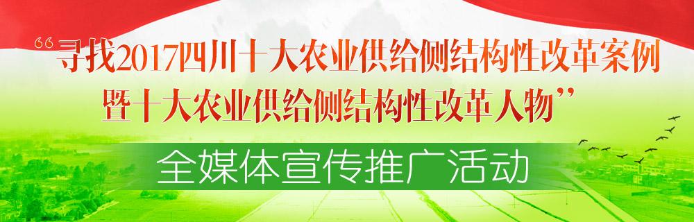 寻找2017四川十大农业供给侧结构性改革案例暨十大农业供给侧结构性改革人物