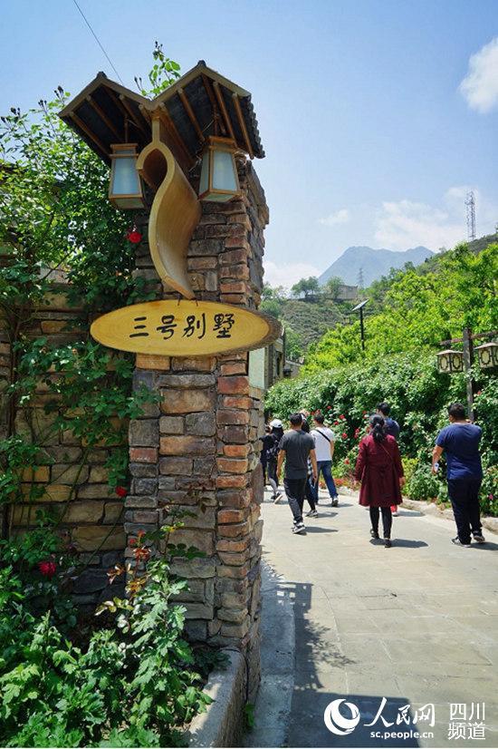 图为茂县坪凤仪镇坪头村乡村旅游建起的别墅。(郭洪兴 摄)