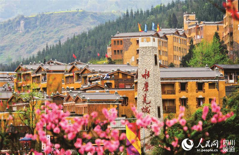 四川水磨镇成功打造羌族特色旅游小镇