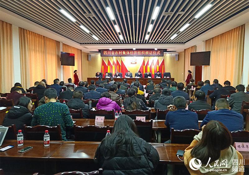 四川省农村集体经济组织颁证仪式现场。