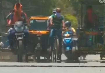 印度迎高温天气