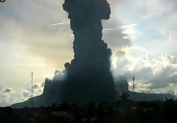 锡纳朋火山再喷发