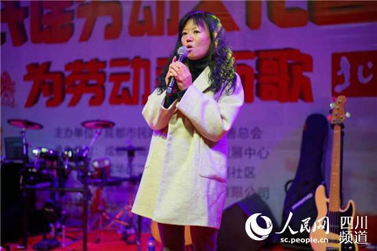 西北路社区主任孔涛现场致辞。