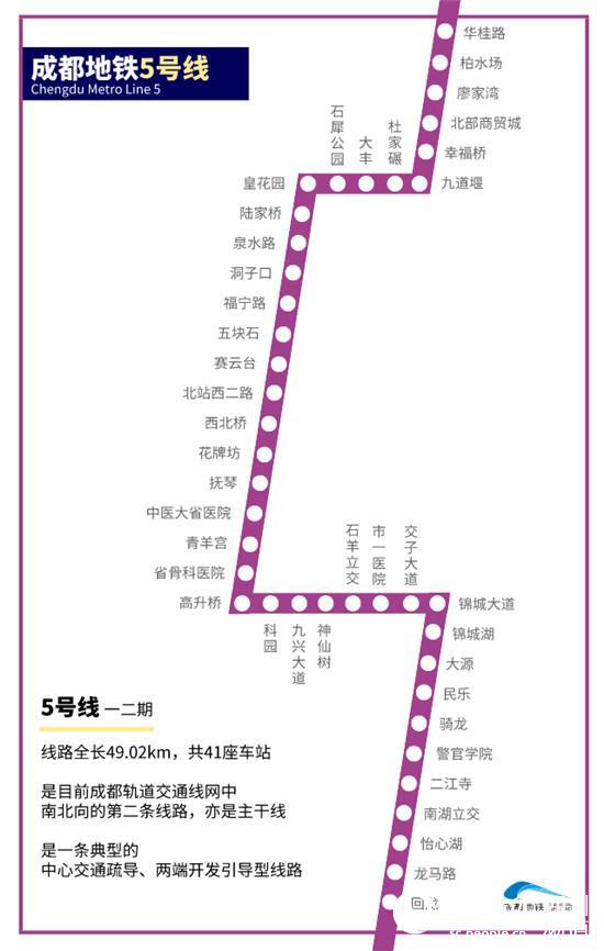 5号线线路图.成都轨道交通集团供图